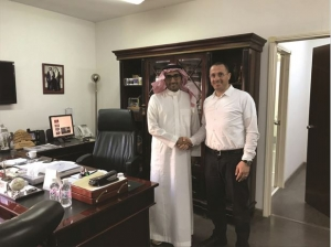 Mr. Odai Ismail, Sales Manager Eastern Region, Medco, seal the deal at Bin Quraya Rental's headquarters in Dhahran, Saudi Arabia.